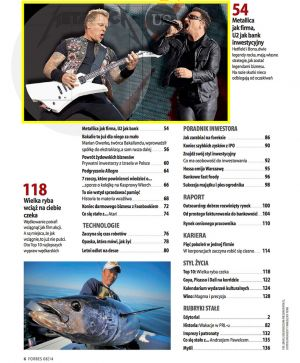 Forbes (Poland) - James Hetfield of Metallica