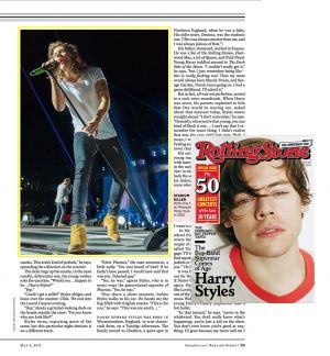 Rolling Stone - Harry Styles of One Direction
