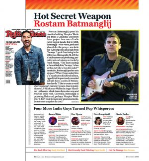 Rolling Stone India - Rostam Batmanglij (Vampire Weekend)
