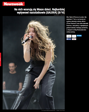 Newsweek.com (Poland) - Lorde