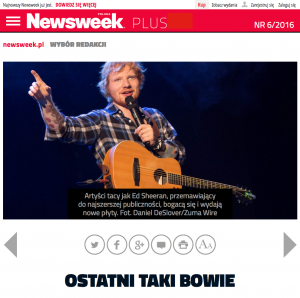 Newsweek.com (Poland) - Ed Sheeran