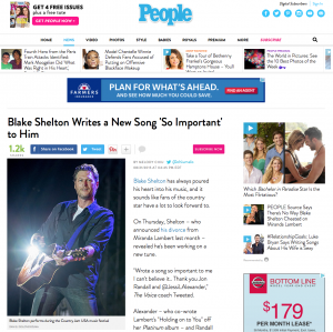People.com - Blake Shelton