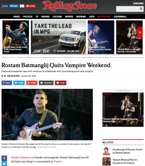 RollingStone.com - Vampire Weekend