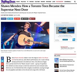 RollingStone.com - Shawn Mendes