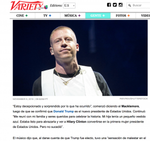 Variety.com - Macklemore and Lewis