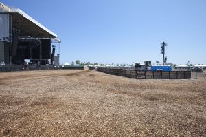Side view of main stage
