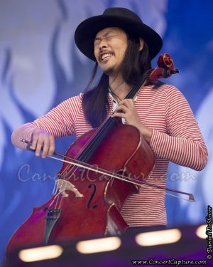 Joe Kwan of The Avett Brothers performs at the Bottle Rock Music Festival in Napa Valley, CA, USA on Thursday, May 9, 2013